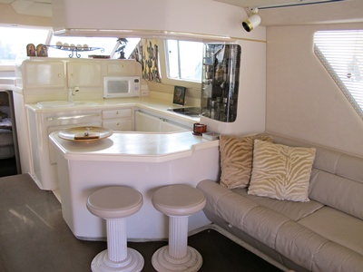 NJ chartyer yacht Agios galley