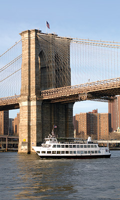 NYC charter yacht Audubon-Brooklyn Bridge