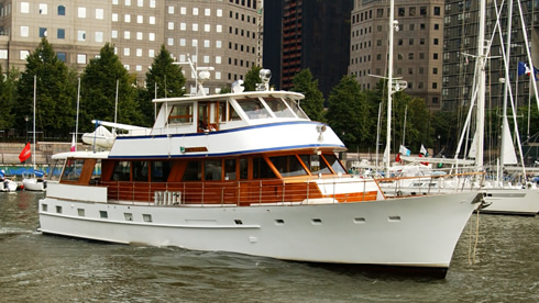 New York charter yacht Calypso - North Cove