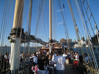 New York saling yacht Clipper City deck