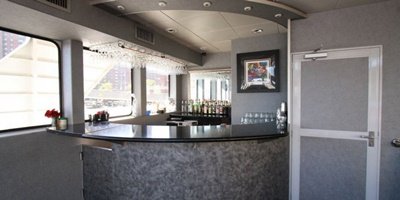 NYC charter yacht Cloud 9 IV top deck bar