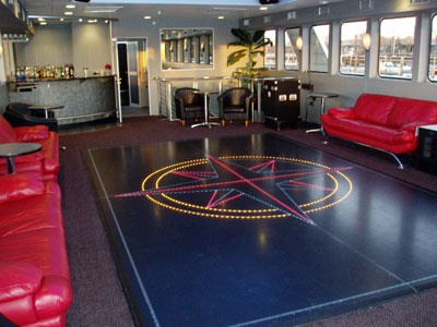 NY yacht Cloud 9 IV dance floor