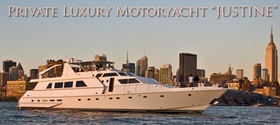 NY charter yacht Justine starboard