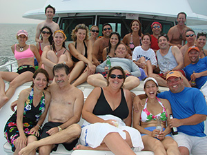New York Charter Yacht Real Escape bow party