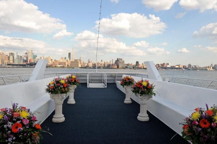 NYC Charter Yacht Royal Princess - top deck