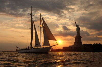 NY ssailboat Shearwater sunset