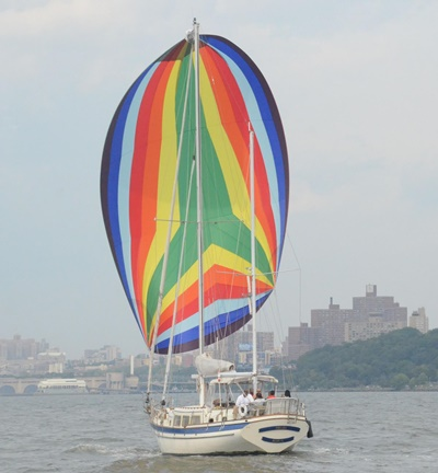 NYC sailboat Prelude port quarter