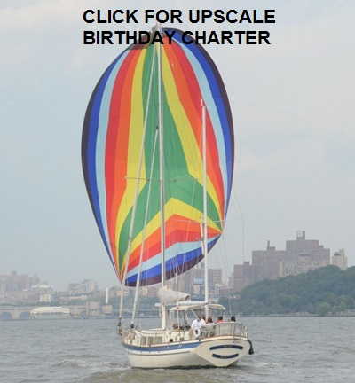 Sailing yacht Prelude spinnaker - birthday
