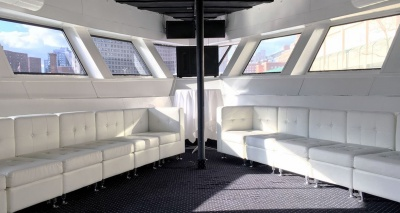 NYC yacht 180 VIP area seating