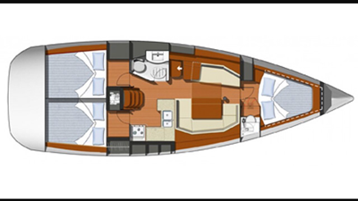 NYC charter yacht 39 layout