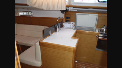 NYC rental yacht 39 galley