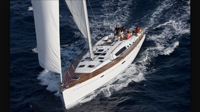 NY sailing yacht 54 port bow