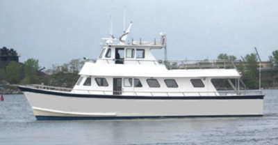 NYC motor yacht 56 - port side