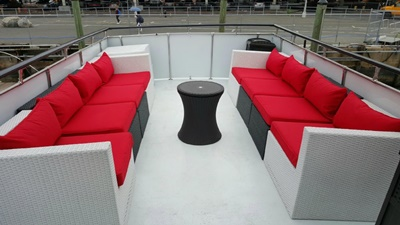 NY rental boat yacht 58 top deck seating
