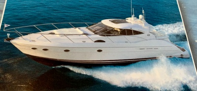 NYC luxury yacht 59 port underway