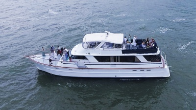 NYC luxury motor yacht 79 port
