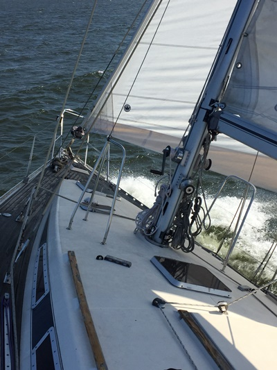 NY Yacht 8 foredeck