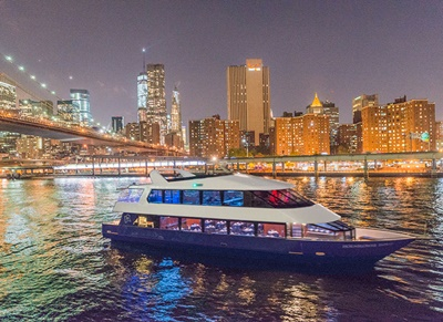 NYC charter Yacht 96 and bridge
