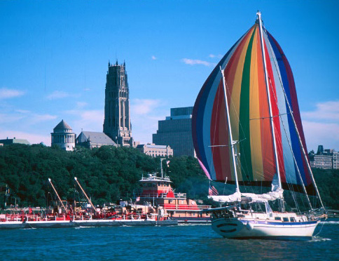 Prelude sailing by Riverside church
