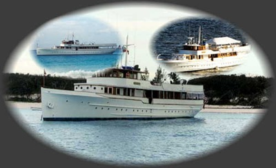 New York motor yacht  Mariner collage
